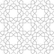 Seamless Vector Pattern in Arabian Style Stock Illustration