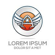 Logo Star Wing Abstract Logo Vector Angel design - stock illustration