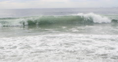 4K Beach With Waves. Rio de Janeiro, Brazil. Brazilian Barra da Tijuca Stock Footage