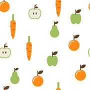 Fruit Seamless Pattern - stock illustration