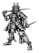Samurai Warrior - stock illustration