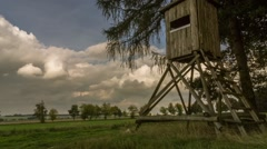 High Seat, Forest and Clouds Timelapse Stock Footage