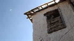 Stock Video Footage of Cyprus war zone - sandbag bunker in Green Line buffer zone, Nicosia
