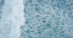 Arial View of a ocean and the waves - stock footage