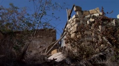 Nicosia Buffer Zone, pan closest point between enemy, Cyprus - stock footage