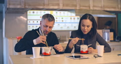Noodle Lovers Stock Footage