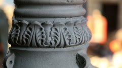 Cast iron lamppost Stock Footage
