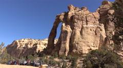 San Rafael Utah Eagle Arch off road recreation 4K Stock Footage
