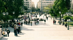 Syntagma square establishing shot high angle,Athens,Greece Stock Footage