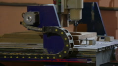 Milling cutting machine makes in wood - stock footage