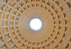 The circular Dome of the Pantheon. Rome, Italy Stock Photos