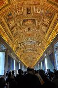 The ceiling of the Gallery of Maps. Vatican museum Stock Photos