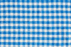 Natural Plaid Fabric Abstract Background Texture, Blue And White Stock Photos