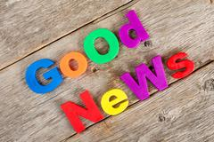 Stock Photo of Good news concept
