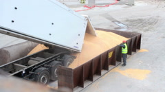 Loading and unloading at seaport 10 Stock Footage
