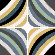 Abstract Modern Pattern Created from Circles - stock illustration