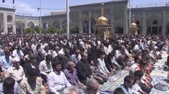Teheran, Mosque at shrine of Shah Abdol Azim, prayer, Iran.mp4 Stock Footage
