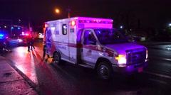 Ambulance Waiting On Scene Of Crash - stock footage