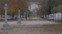 Leisure time in Tivoli Park in Ljubljana Stock Footage