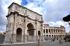 Arch of Constantine near the Colosseum in Rome, Italy - stock photo