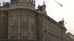 Central Post Office building in Ljubljana Stock Footage