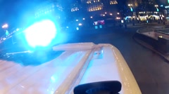 Blue ambulance flashers. Close-up on the car - stock footage