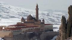 Sultan Ishak Pasha Palace, Eastern Turkey.mp4 Stock Footage