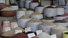 Bulk Food Market in Hanoi - stock footage