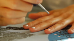 Manicure at home - stock footage