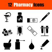 Set of farmacy icons Stock Illustration