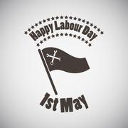 Labour Day Emblem - stock illustration