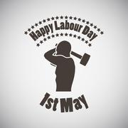 Labour Day Emblem Stock Illustration