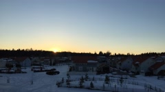 Sunset in Finland in winter Stock Footage