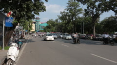 Typical Traffic in Hanoi Stock Footage