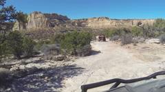 Beautiful desert landscape offroad recreation POV HD Stock Footage