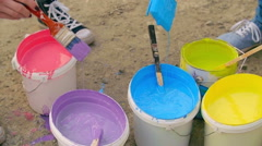 Colors for Positive Mood - stock footage