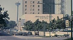 Niagara Falls 1965: Sheraton Hotel Stock Footage