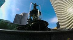 Tyler Davidson Fountain Stock Footage