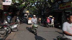 Motor Scooters in Hanoi Stock Footage