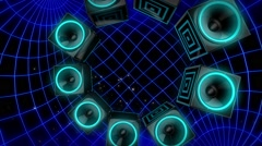 SpeakerMania VJ Loop Stock Footage