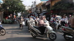 Busy Intersection in Hanoi Stock Footage