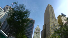 Looking up at Buildings in Downtown Cincinnati - stock footage