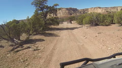 Driving offroad 4x4 beautiful desert landscape POV HD - stock footage
