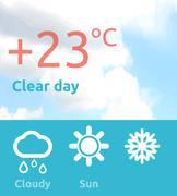 Stock Illustration of Weather Web Element Banner Design