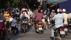 School is Out in Hanoi Stock Footage