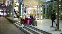 Bangkok Chinese shopping tourists wide shot - stock footage