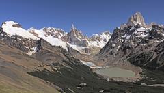 Patagonian Andes Panorama - stock photo