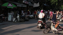 Delivery Man in Hanoi Stock Footage