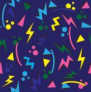 90s background - stock illustration
