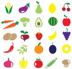 Fruits and vegetables Stock Illustration